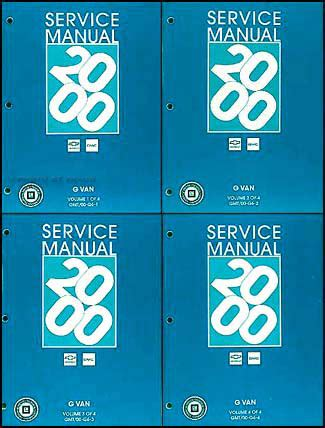 service manual repair manual 2006 gmc savana 1500 service manual pdf 2003 gmc savana 1500 2000 chevy express gmc savana van shop manual set 1500 2500 3500 repair service ebay