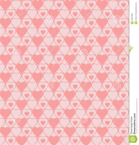 pattern cute pink vector seamless hearted patterns stock vector image 40327389
