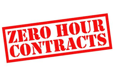sle of zero hour contract zero hours contracts vulnerable to