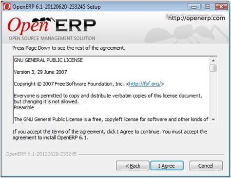 gnu general public license how to install openerp 6 1 and openerp 6 0 on windows