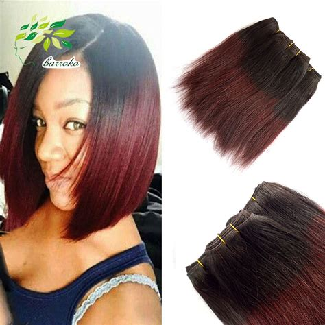 8 inch sew in hair styles 7a unprocessed virgin hair 8 inch burgundy weave malaysian