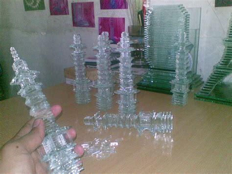 cara membuat kerajinan tangan menara eiffel miniatur dari kaca kerajinan kaca kerajinan kaca bekas