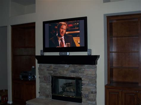 tv fireplace mount mount tv fireplace my new house