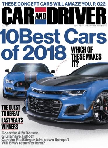car and driver car and driver magazine intelligence independence irreverence discountmags com