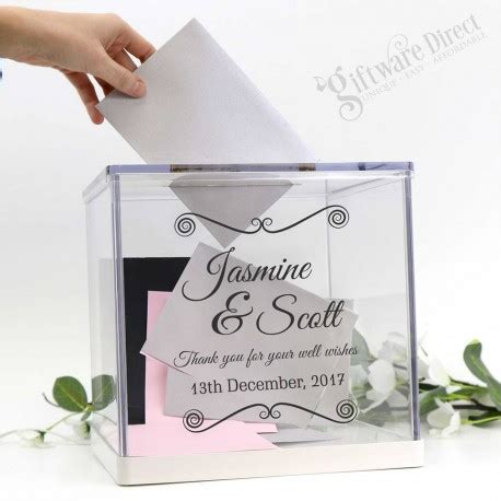 wedding card post box next day delivery wedding personalised acrylic wishing well