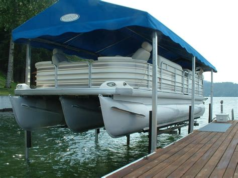 pontoon boat lift covers sunstream boat lifts 187 sunlift the original freestanding