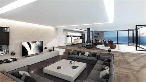 ultra modern interior design 4 ultra luxurious interiors decorated in black and white