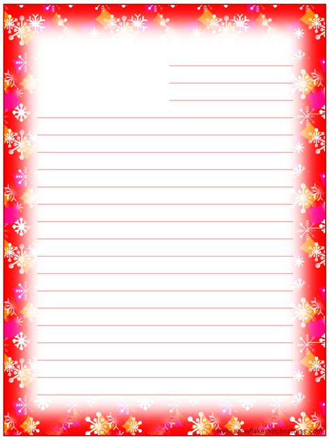 printable christmas stationary with lines 8 best images of printable christmas lined paper with