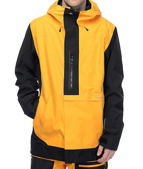 Jaket Quicksilver Yellow quiksilver travis rice exhibition tex yellow black snowboard jacket zumiez