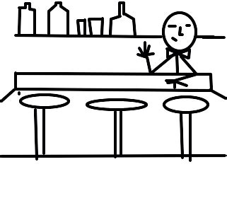 bar desenho de klestom gartic