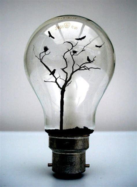 birds tree light on