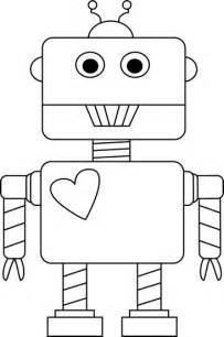 shape robot template black and white s day robot clip