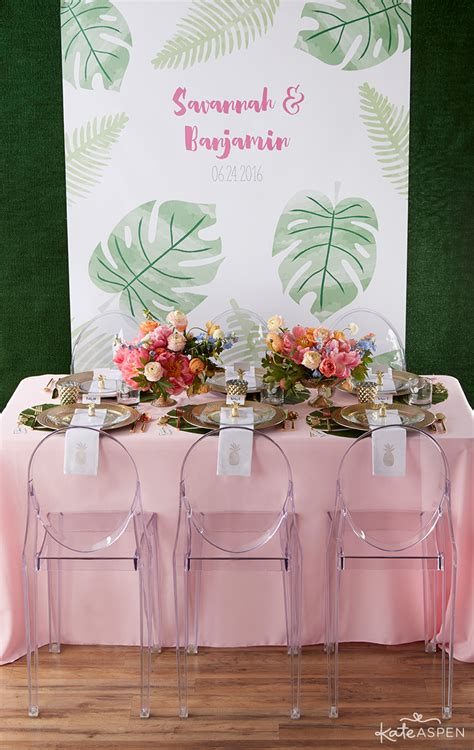 a pineapples and palms inspired tropical wedding kate aspen