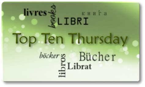 Thursday Three Books Where The Leading Has Something To Hide by 180 S B 252 Cherwelt Aktion Top Ten Thursday 46