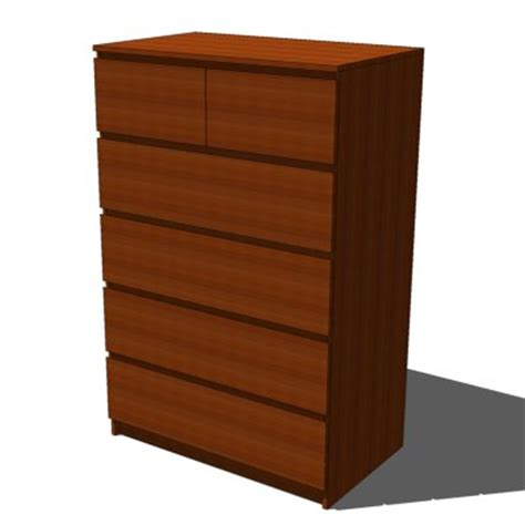 Malm Drawers by Malm Drawers Medium Brown 3d Model Formfonts 3d
