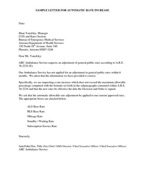 Raise Rates Letter Price Increase Letter Format Best Template Collection