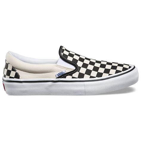 vans checkerboard slip on pro shoe black white billion