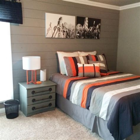 tween boy bedroom teenage boy room makeover gray painted dressers planked