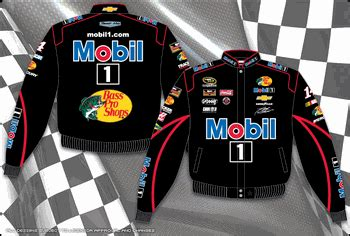 design your own nascar jacket tony stewart mobil one mens black twill nascar jacket by