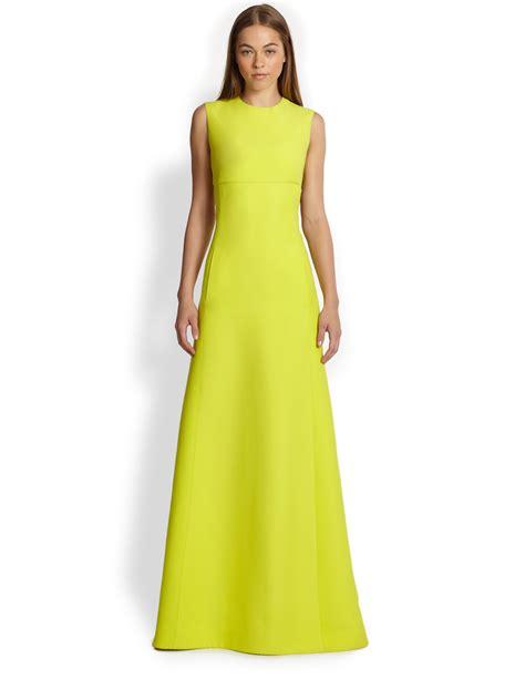 Valentino Maxy lyst valentino cutoutback maxi dress in yellow