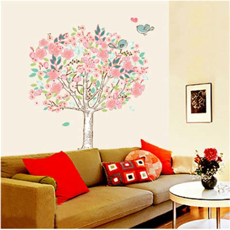 flower wall stickers for bedrooms vinyl flowers floral mural wall sticker bedroom livingroom