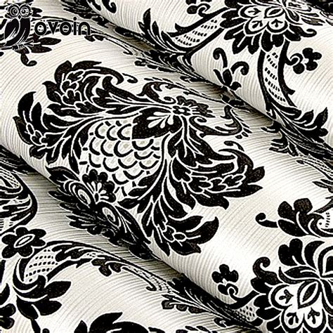 black damask wallpaper home decor floral wallcovering pvc wallpaper black silver damascus
