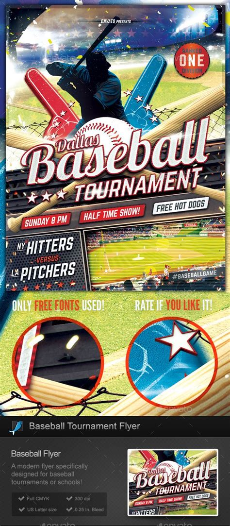 Pin By Bashooka Web Graphic Design On Sport Flyer Template Flyer Template Sports Flyer Free Baseball Tournament Flyer Template