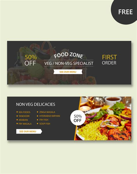 food banner template restaurant psd banner templates