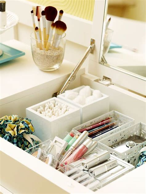 Organize Vanity Table A Storage Packed Bedroom Vanities Fabrics And Brushes