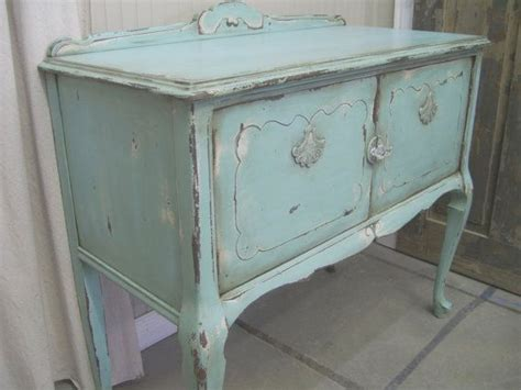 Shabby Aqua Painted Buffet Server Chic Aqua Paint Shabby Chic Blue Furniture