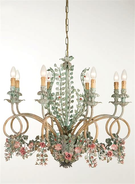 chandelier with flowers italian wrought iron chandelier with flowers