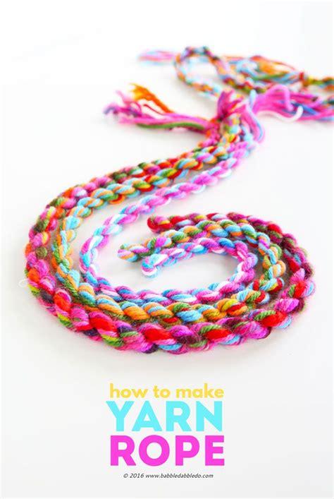crafts yarn yarn craft idea how to make yarn rope summer activities