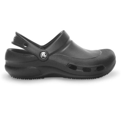 crocs bistro vent work clog black non slip sole with side