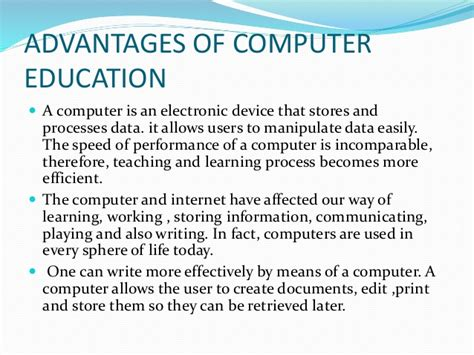 importance of computer education essay a for and against essay about