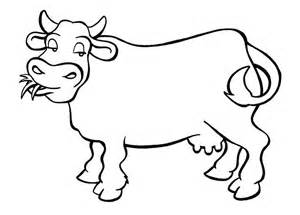 cow template 70 animal colouring pages free print free