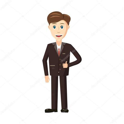 imagenes animes de hombres hombre en traje de icono de estilo de dibujos animados