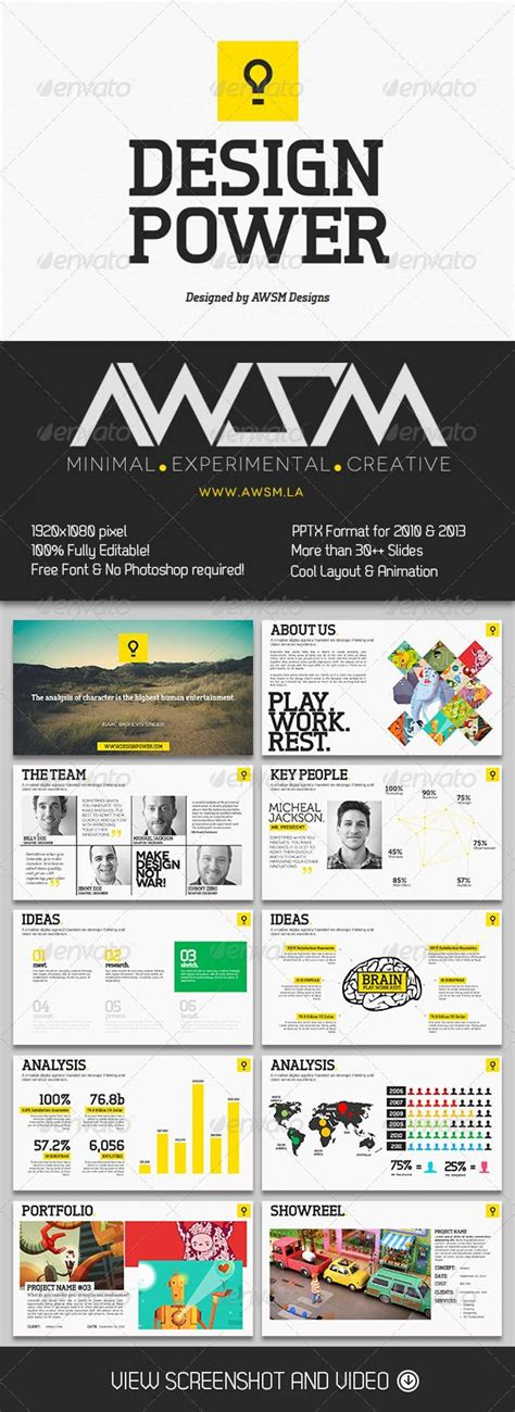 powerpoint layout verwenden design power powerpoint template creative powerpoint