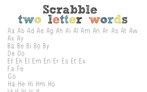 2 letter words scrabble list the clantoons scrabble