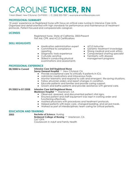 ophthalmic nurse sample resume for nursing student cover letter