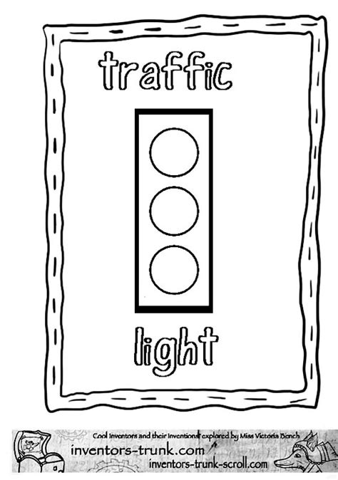 Traffic Light Template Cliparts Co Garrett Coloring Page