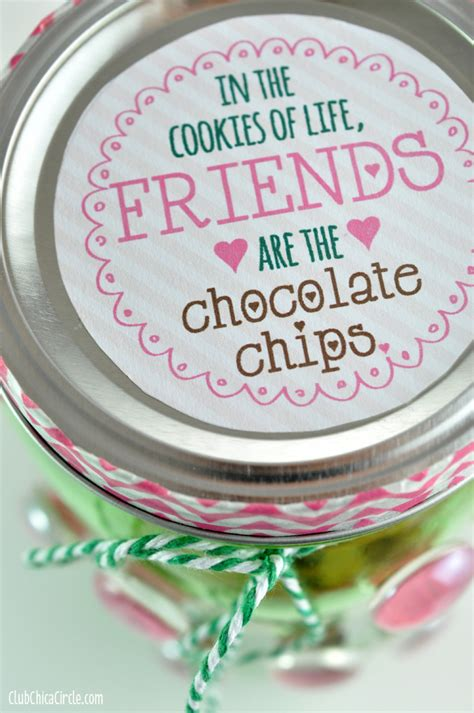 printable happy jar quotes mason jar gift idea chocolate chip cookie jar