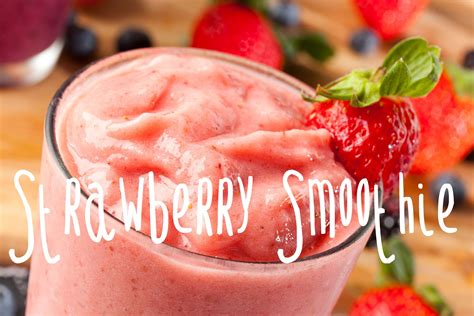 how to make a strawberry banana smoothie youtube