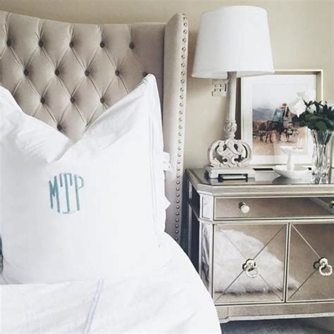 Mirrored Tufted Headboard Tufted Headboard Mirrored Nightstand House Decor Pinterest Tufted Headboards