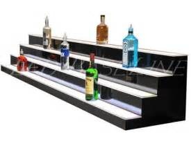 Bar Glasses Display 44 Quot 4 Step Liquor Bottle Display Glass Display For Bar Or