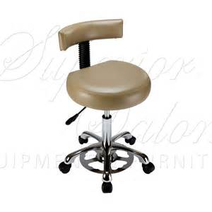 Hand amp foot control stool with back support superior salon