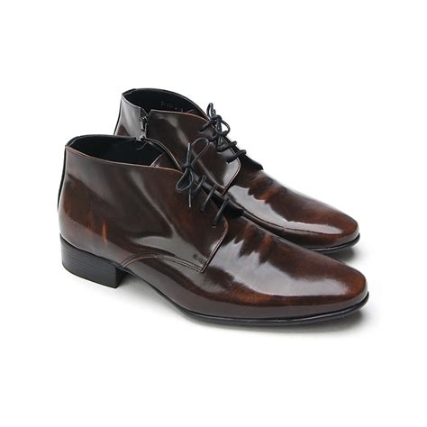 mens increase height insole leather ankle dress shoes