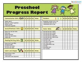 kindergarten report card templates free printable preschool progress reports kindergarten report