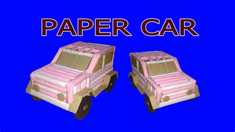 Make A Car With Paper - how to make a paper car electric powerful car easy