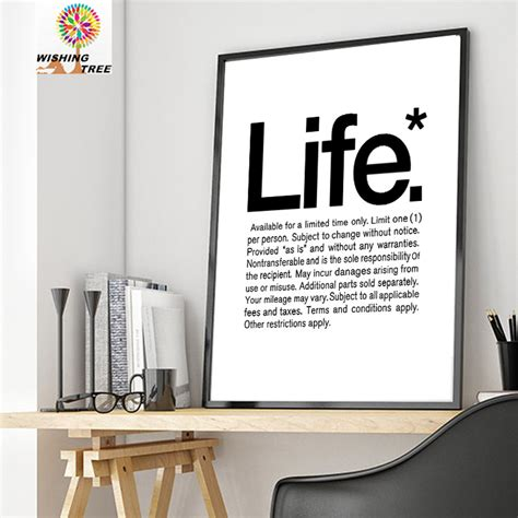 inspirational home decor living room modern print poster painting home decor