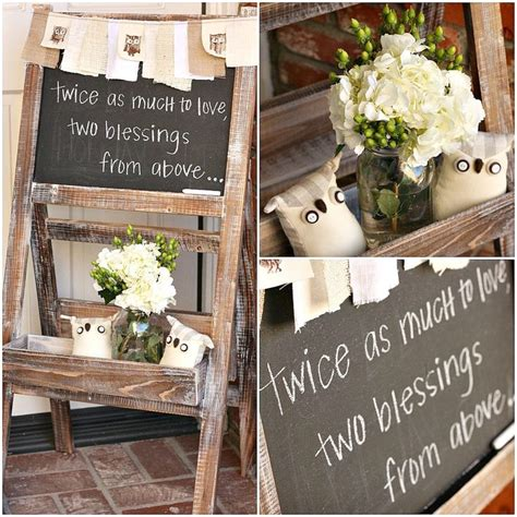 owl decor childrens gifts signs home decor rustic by best 20 twin baby showers ideas on pinterest twin ideas
